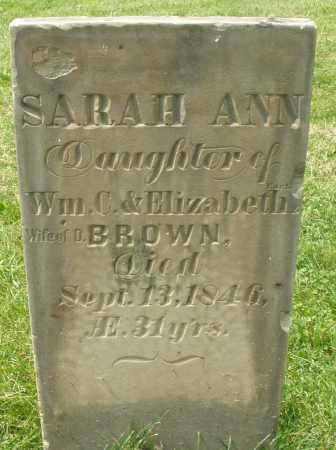CART...? BROWN, SARAH ANN - Montgomery County, Ohio   SARAH ANN CART...? BROWN - Ohio Gravestone Photos