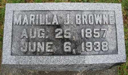 BROWNE, MARILLA J. - Montgomery County, Ohio   MARILLA J. BROWNE - Ohio Gravestone Photos
