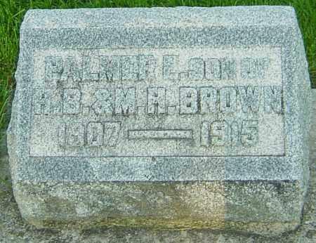 BROWNE, PALMER EVERT - Montgomery County, Ohio   PALMER EVERT BROWNE - Ohio Gravestone Photos