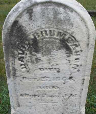 BRUMBAUGH, DAVID - Montgomery County, Ohio   DAVID BRUMBAUGH - Ohio Gravestone Photos