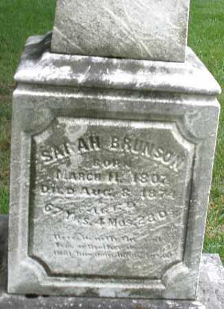 BRUNSON, SARAH - Montgomery County, Ohio | SARAH BRUNSON - Ohio Gravestone Photos