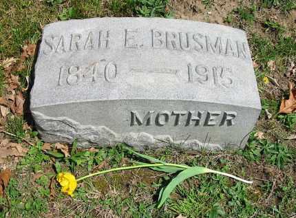 BRUSMAN, SARAH E. - Montgomery County, Ohio   SARAH E. BRUSMAN - Ohio Gravestone Photos