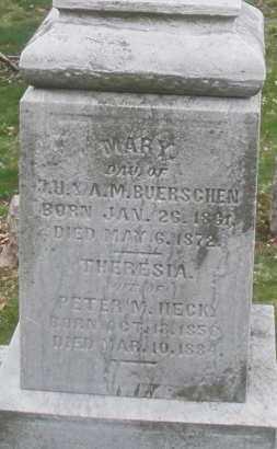 BUERSCHEN, MARY - Montgomery County, Ohio | MARY BUERSCHEN - Ohio Gravestone Photos