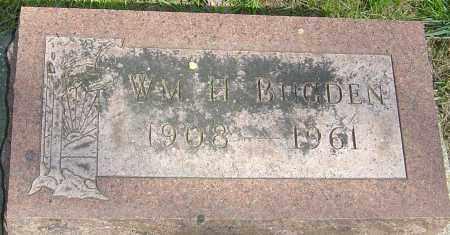 BUGDEN, WILLIAM HORACE - Montgomery County, Ohio   WILLIAM HORACE BUGDEN - Ohio Gravestone Photos