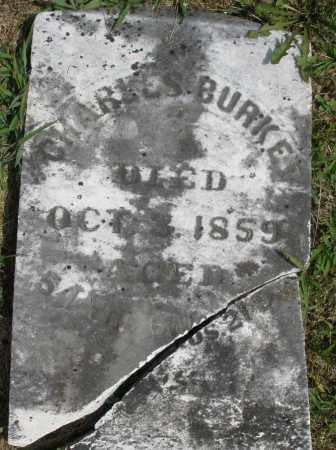 BURKE/BURKEL ?, CHARLES - Montgomery County, Ohio   CHARLES BURKE/BURKEL ? - Ohio Gravestone Photos