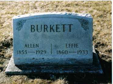 BURKETT, EFFIE - Montgomery County, Ohio | EFFIE BURKETT - Ohio Gravestone Photos