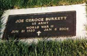 BURKETT, JOE GEORGE - Montgomery County, Ohio | JOE GEORGE BURKETT - Ohio Gravestone Photos