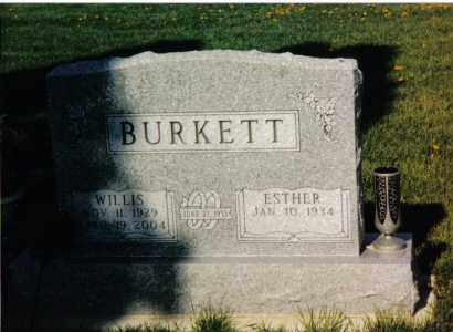 BURKETT, ESTHER - Montgomery County, Ohio | ESTHER BURKETT - Ohio Gravestone Photos