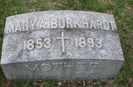 BURKHARDT, MARY A. - Montgomery County, Ohio | MARY A. BURKHARDT - Ohio Gravestone Photos
