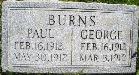 BURNS, GEORGE - Montgomery County, Ohio | GEORGE BURNS - Ohio Gravestone Photos