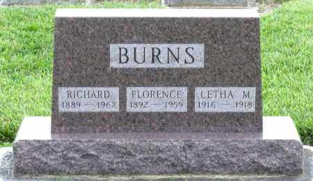 BURNS, FLORENCE - Montgomery County, Ohio | FLORENCE BURNS - Ohio Gravestone Photos