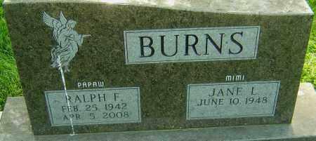 BURNS, RALPH F - Montgomery County, Ohio   RALPH F BURNS - Ohio Gravestone Photos