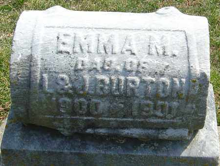 BURTON, EMMA M - Montgomery County, Ohio   EMMA M BURTON - Ohio Gravestone Photos