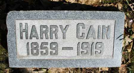 CAIN, HARRY - Montgomery County, Ohio | HARRY CAIN - Ohio Gravestone Photos