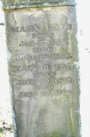 CAIN, STACY B. - Montgomery County, Ohio | STACY B. CAIN - Ohio Gravestone Photos