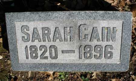 CAIN, SARAH - Montgomery County, Ohio   SARAH CAIN - Ohio Gravestone Photos