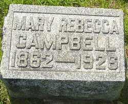CAMPBELL, MARY REBECCA - Montgomery County, Ohio   MARY REBECCA CAMPBELL - Ohio Gravestone Photos