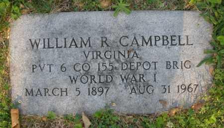 CAMPBELL, WILLIAM R. - Montgomery County, Ohio | WILLIAM R. CAMPBELL - Ohio Gravestone Photos