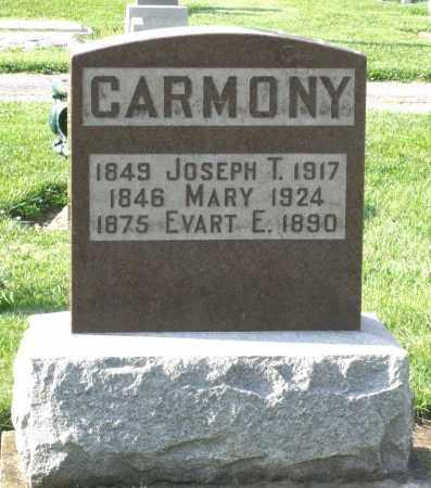 CARMONY, JOSEPH T. - Montgomery County, Ohio | JOSEPH T. CARMONY - Ohio Gravestone Photos