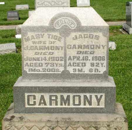 CARMONY, JACOB - Montgomery County, Ohio | JACOB CARMONY - Ohio Gravestone Photos