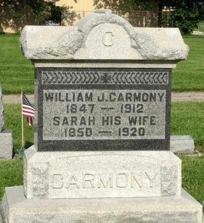 CARMONY, SARAH - Montgomery County, Ohio | SARAH CARMONY - Ohio Gravestone Photos