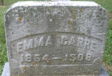 CARRE, EMMA - Montgomery County, Ohio   EMMA CARRE - Ohio Gravestone Photos