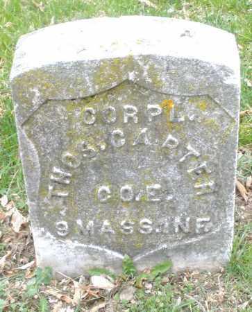 CARTER, THOMAS - Montgomery County, Ohio   THOMAS CARTER - Ohio Gravestone Photos