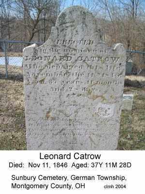 CATROW, LEONARD - Montgomery County, Ohio   LEONARD CATROW - Ohio Gravestone Photos