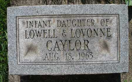 CAYLOR, INFANT DAUGHTER - Montgomery County, Ohio | INFANT DAUGHTER CAYLOR - Ohio Gravestone Photos