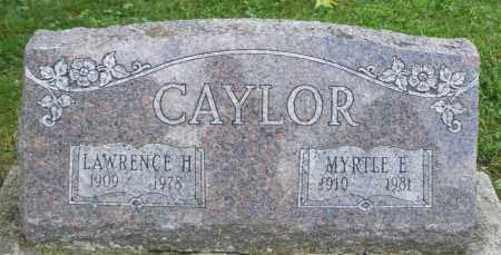 CAYLOR, MYRTLE E. - Montgomery County, Ohio   MYRTLE E. CAYLOR - Ohio Gravestone Photos
