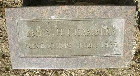 CHAMBERS, EMILY H. - Montgomery County, Ohio | EMILY H. CHAMBERS - Ohio Gravestone Photos