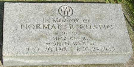 CHAPIN, NORMAN R - Montgomery County, Ohio | NORMAN R CHAPIN - Ohio Gravestone Photos