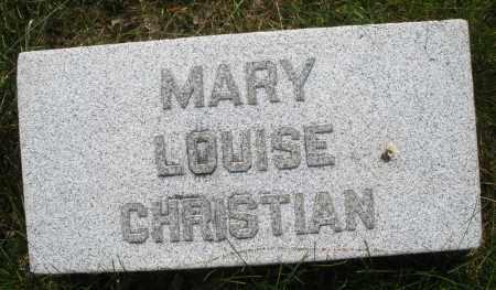 CHRISTIAN, MARY LOUISE - Montgomery County, Ohio | MARY LOUISE CHRISTIAN - Ohio Gravestone Photos