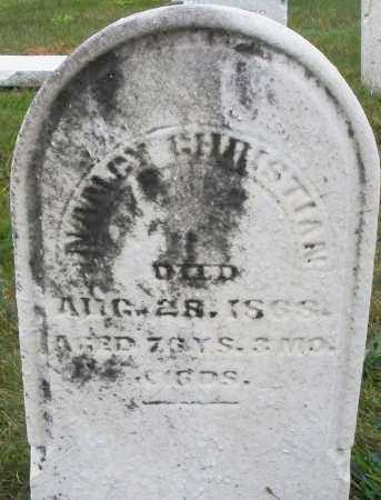CHRISTIAN, NANCY - Montgomery County, Ohio | NANCY CHRISTIAN - Ohio Gravestone Photos