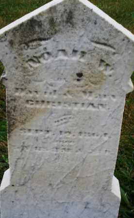 CHRISTIAN, NOAH W. - Montgomery County, Ohio   NOAH W. CHRISTIAN - Ohio Gravestone Photos