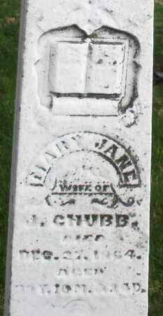 CHUBB, MARY JANE - Montgomery County, Ohio | MARY JANE CHUBB - Ohio Gravestone Photos