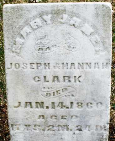 CLARK, MARY JANE - Montgomery County, Ohio | MARY JANE CLARK - Ohio Gravestone Photos