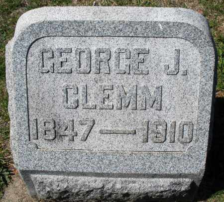 CLEMM, GEORGE J. - Montgomery County, Ohio | GEORGE J. CLEMM - Ohio Gravestone Photos