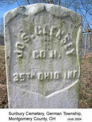 CLENSEY, JOSEPH - Montgomery County, Ohio | JOSEPH CLENSEY - Ohio Gravestone Photos