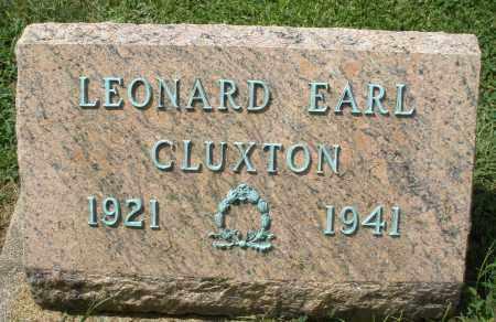 CLUXTON, LEONARD EARL - Montgomery County, Ohio | LEONARD EARL CLUXTON - Ohio Gravestone Photos