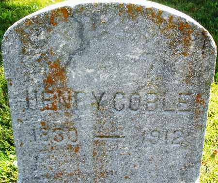 COBLE, HENRY - Montgomery County, Ohio | HENRY COBLE - Ohio Gravestone Photos