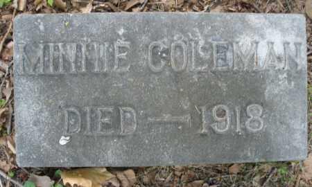 COLEMAN, MINNIE - Montgomery County, Ohio | MINNIE COLEMAN - Ohio Gravestone Photos