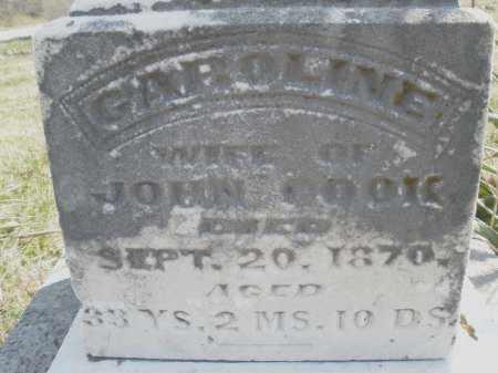 COOK, CAROLINE - Montgomery County, Ohio   CAROLINE COOK - Ohio Gravestone Photos