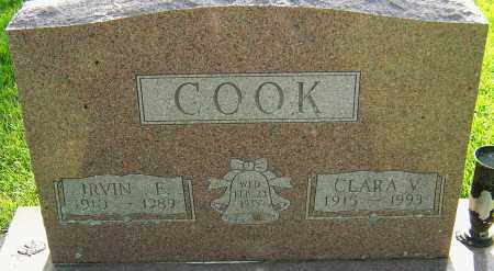 COOK, IRVIN E - Montgomery County, Ohio   IRVIN E COOK - Ohio Gravestone Photos