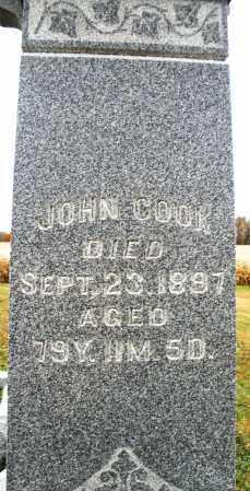 COOK, JOHN - Montgomery County, Ohio   JOHN COOK - Ohio Gravestone Photos