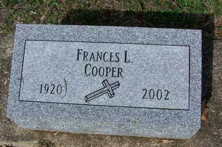 COOPER, FRANCES L. - Montgomery County, Ohio | FRANCES L. COOPER - Ohio Gravestone Photos