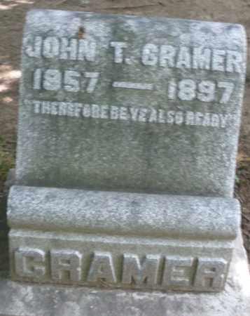 CRAMER, JOHN T, - Montgomery County, Ohio | JOHN T, CRAMER - Ohio Gravestone Photos