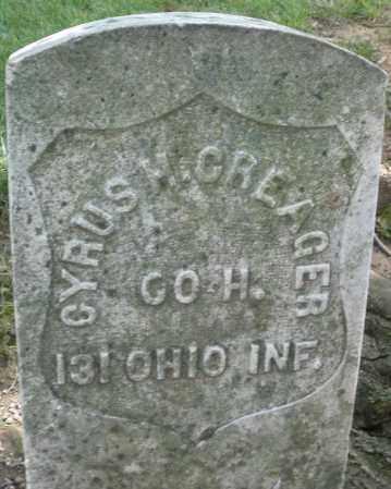 CREAGER, CYRUS H, - Montgomery County, Ohio   CYRUS H, CREAGER - Ohio Gravestone Photos