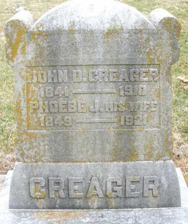 CREAGER, PHOEBE - Montgomery County, Ohio   PHOEBE CREAGER - Ohio Gravestone Photos