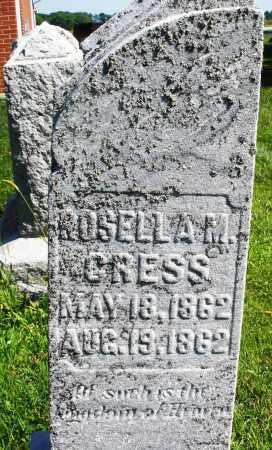 CRESS, ROSELLA M. - Montgomery County, Ohio | ROSELLA M. CRESS - Ohio Gravestone Photos